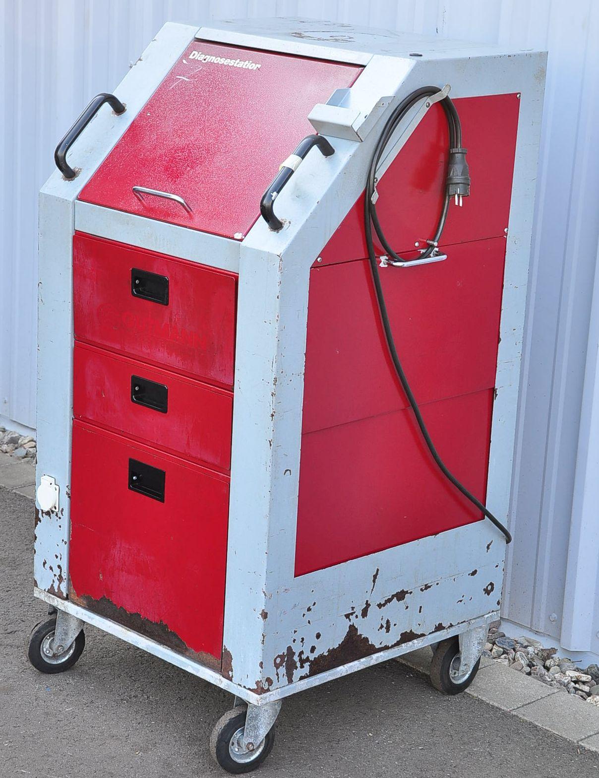 gutmann mega macs diagnosestation diagnosewagen diagnosestationswagen ebay. Black Bedroom Furniture Sets. Home Design Ideas