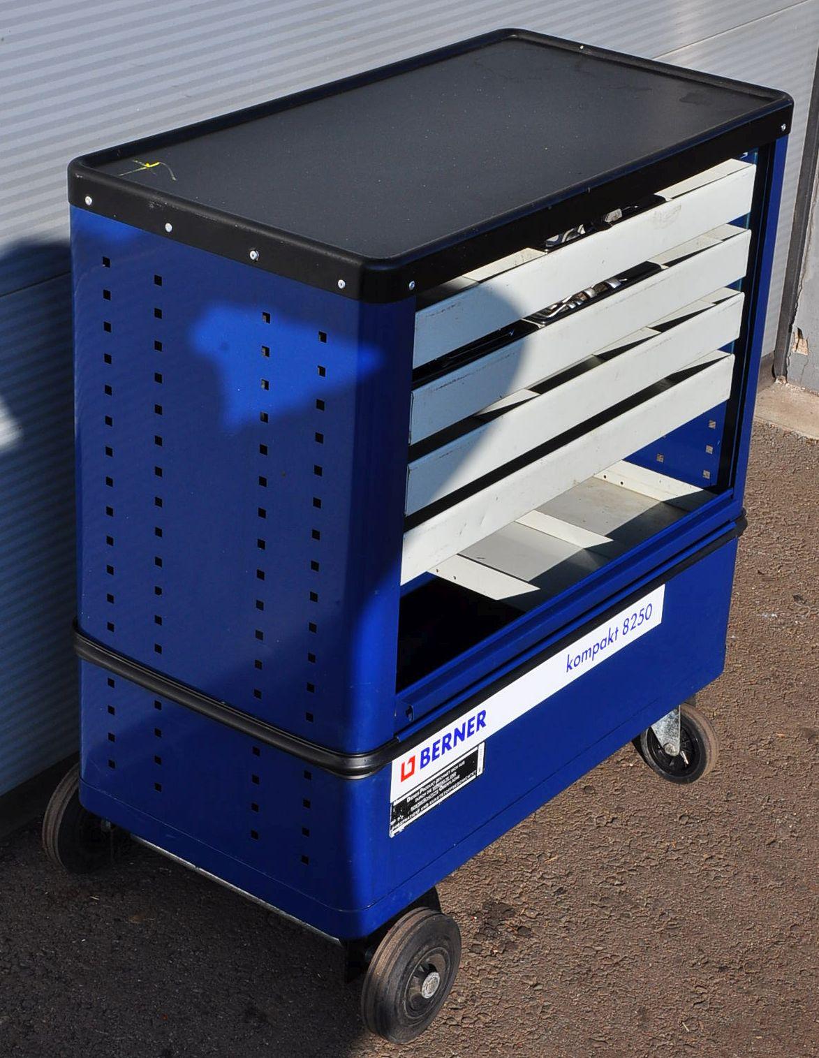 Ganz und zu Extrem BERNER kompakt 8250 Werkstattwagen Rollwagen Werkzeugwagen &WL_79